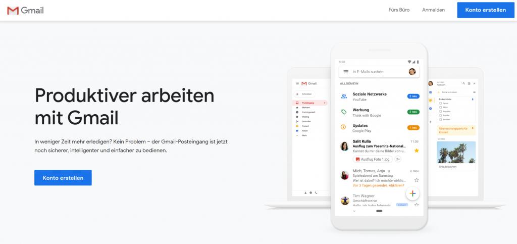 Neue E-Mail Adresse erstellen bei Gmail.com (Google Mail)