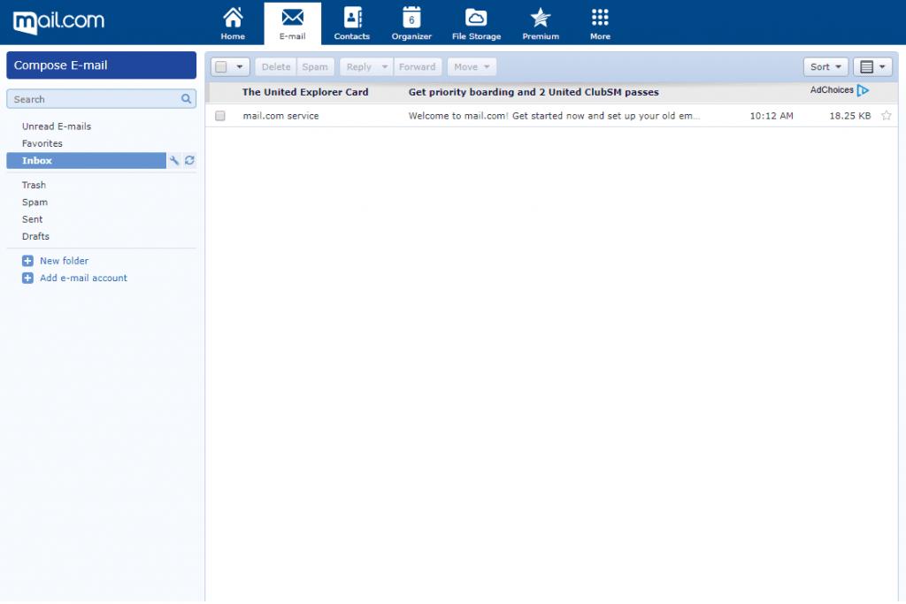 Mail.com - kostenloser E-Mail Anbieter