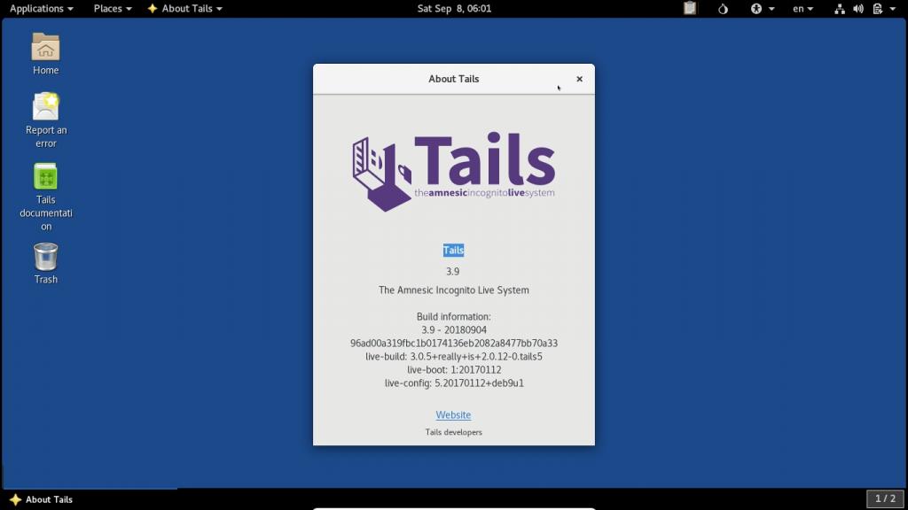 Tails OS Betriebsystem für Online-Anonymität