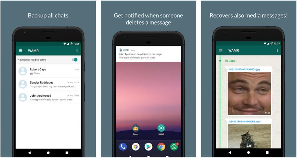 """Nachrichten, die mit der Funktion """"Für alle löschen"""" entfernt wurden, wieder sichtbar machen - Die WAMR App macht es möglich"""